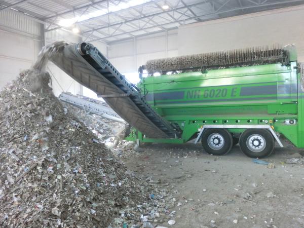 Przesiewacz bębnowy przesiewanie odpadów