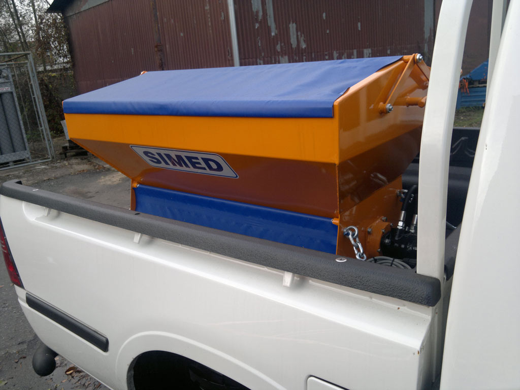 Pług i solarka na pickup