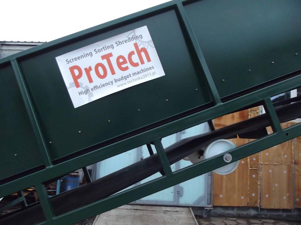 protech sortowanie śmieci - taśmociąg wznoszący