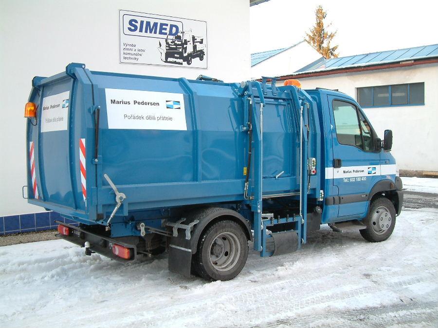 śmieciarki satelitarne simed 7m3